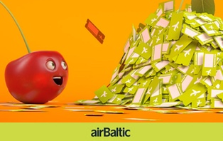 500000 дешевых авиабилетов от авиакомпании airBaltic