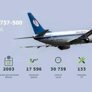 Белавиа вывела из эксплуатации свой первый Boeing 737-500