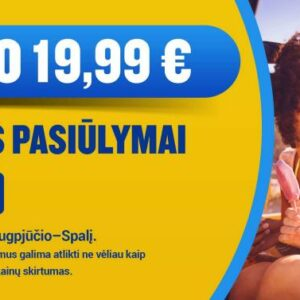 Дешевые авиабилеты с вылетом из Литвы от 7.99 евро!